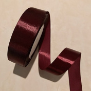 2.5cm Single Face Satin Ribbon Price Per Roll/25 Yards in Burgundy Available in 14 Colours