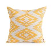 Baibu Geometirc Pattern Throw Pillow Cover Polyester Pillow Cover 46cm x 46cm Yellow