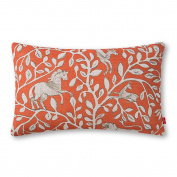 Baibu Decor Unique Chic Animal Pattern Cushion Cover Polyester Throw Pillow Cover 50cm x 30cm for Sofa Orange Horse