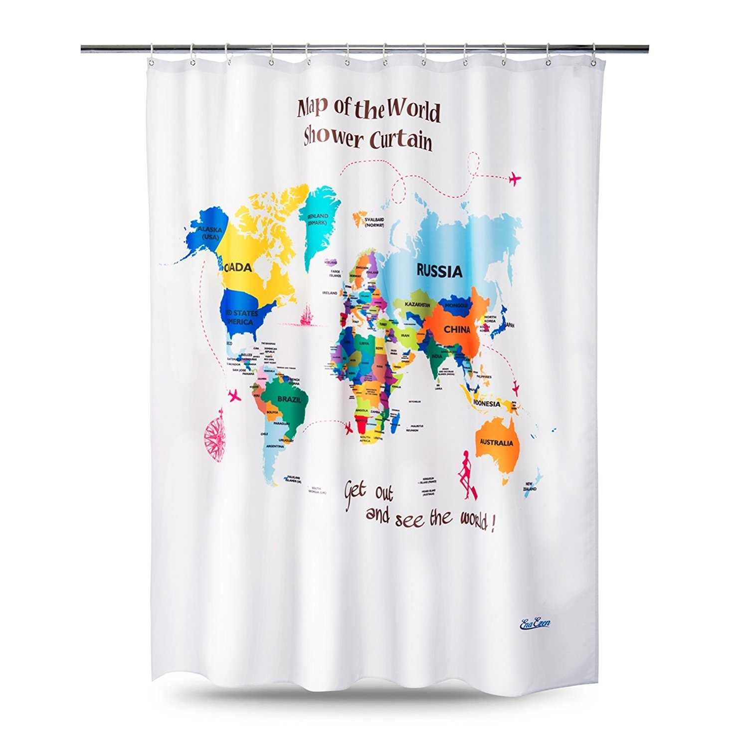 World Map Shower Curtain Homeware Buy Online From Fishpondau