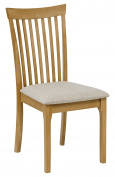 Julian Bowen Ibsen Dining Chair, Wood, Light Oak, 2-Piece