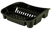 Whitefurze Dish Drainer, Plastic, Black, Small