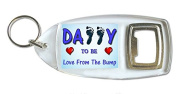 Daddy To Be Love From The Bump Bottle Opener Keyring Ideal Birthday Father's Day Gift B31