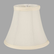 ONEPRE Cream Linen Clip On Lamp Shades Small Candle Chandelier lampshade Bell 15cm