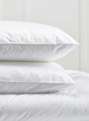 Pair Of Luxury Goose Feather Pillows with 85% Feather 15% Down 100% Cotton Cover by Highliving ®