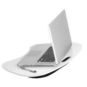 Honey-Can-Do TBL-06320 Portable Laptop Lap Desk with Handle, White, 23 L x 16 W x 2.5 H