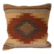Fair Trade Kilim Cushion Covers Handmade on Handlooms using 80/20 wool/cotton and Natural Dyes Almora