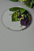 Tea Light Candle Mirrored Display Round Plates Set Of Two