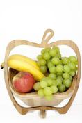 GMMH Foldable Basket Bamboo Decorative Bowl, Fruit Bowl, Wood Apple 1