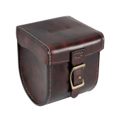 Tourbon Leather Fly Fishing Reel Case Storage