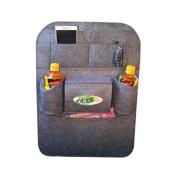 AStorePlus Luxury Car Back Seat Organiser, Excellent Woollen Felt Back Seat Storage Compartments Organiser, Multipurpose Use as Auto Seat Back Protector, Kick Mat, Car Organiser