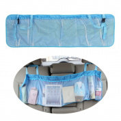 AStorePlus Multipurpose Car Mate Back Seat Trunk Organiser, 9532cm Lenghened Car pocket organiser, Trunk Back Seat Storage Organiser, Trucks Rear Storage Space Bag, Blue