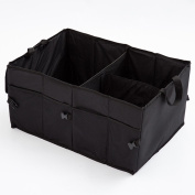 Coosa Car Trunk Organiser Backseat Collapsible Folding Storage Container with Handles for SUV /Cars/Vans/Minivan/Trucks Rear or Backseat - Black