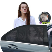 ZOTO Car Rear Window Sun Shade, Premium Breathable Mesh Sun Shield protect Baby/Pet from Sun's Glare & Harmful UV Rays, Universal Car Curtains Fit For Cars, Trucks and SUV's