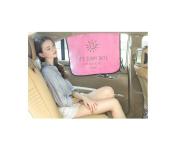 Mocase Car Magnetic Window Shade 3 Layers Sun Block, Pink/Black