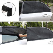 Mydio 2 Pack Car Window Shades for Baby, Car Sun Shade Breathable Mesh,Passengers and Pets Without Clings or Suction Cups