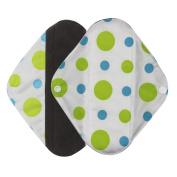 Ecurson Reusable Bamboo Charocoal Washable Menstrual Pad Mama Sanitary Towel Pad