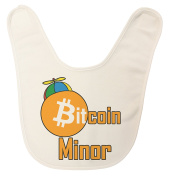 USA Made Bitcoin Minor Baby Bib with Touch Closure
