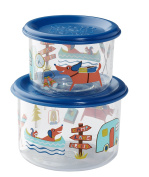 Sugarbooger Good Lunch Snack Containers Small Set-of-Two, Happy Camper