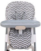 NoJo High Chair Cover Pad - Chevron Grey