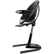 Mima Moon 2G Complete High Chair in Black with Black Seat Pad