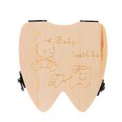 Baby Teeth Box Odeer Tooth Box Organiser for Baby Milk Teeth Save Wood Storage Tooth Box Lanugo Collecting Teeth Gift