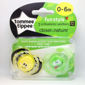 Closer To Nature Any Time Soother Twin Pack - 0-6m