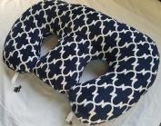 Twin Z Pillow + 1 Designer Navy Lattice + FREE Travel Bag!