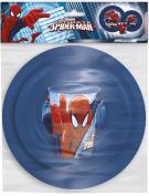 Official Marvel Ultimate Spider-man 3 Piece Dinner Meal Picnic Set - Plate,