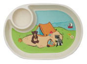 Ecobamboo Ware Babies/Kids/Toddlers Bamboo Small Tray/Plate, Camping
