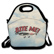 Bite Me Fish Lunch Bags Special Lunch Bag Black For YOU