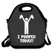 I Pooped Today Lunch Tote Bag Special Lunch Bag Black For YOU