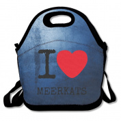 I Heart Meerkats Lunch Bags Special Lunch Carry Bag Black For YOU
