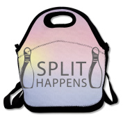 Split Happens Funny Bowling Lunch Bag One Size