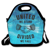 United We Stand Divided We Fall Polyester Lunch Bag
