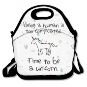 Time To Be A Unicorn Lunch Bag One Size