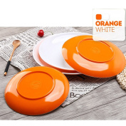 Homieco™ Round Dinner Plates Set A5 Imitation Ceramic Dishes Dessert Plates Cooking Tool for Kitchen Tableware Hotel Restaurant