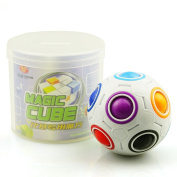 Dingze Yongjun Novelty Rainbow Football Puzzle Spherical Magic Cube Toys Learning & Educational Toys For Children Kids Adult