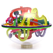 Kasstino 100-299 Barriers 3D Space Traveller Intellect Ball Balance Maze Game Puzzle Toy