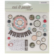 Cut & Paste Flair Decorative Brads 24/Pkg-Small