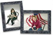 Cardboard Photo Easel Frame - 8x10 - Pack of 25 - Marble