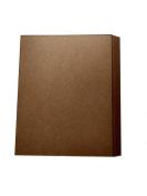 22cm x 28cm 30 Point Kraft Heavy Duty Chipboard Sheets - 25 Per Pack