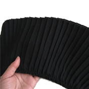 Chiffon Fabric Pleated Lace Trims Accordion Pleats Lace Trims 3 Yards 15cm - 1.9cm Wide for Garment Extender Sewing Supply