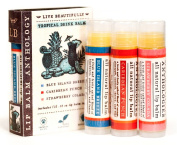 Tropical Drinks Lip Balm Set - All Natural - Includes 3 Tropical Flavours