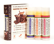 Fruited Tea Lip Balm Set - All Natural - Includes 3 Fruity Flavours