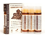 Coffee Shop Lip Balm Set - All Natural - Includes 3 Coffee Flavours