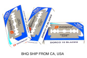 Shaving Dorco New Platinum Coated Double-edged Standard Disposable Straight Safety Razor Blades 30 Counts
