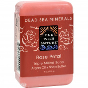 One With Nature Dead Sea Mineral Rose Petal Soap - 210ml -