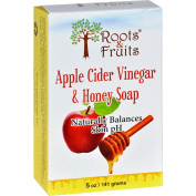 Roots and Fruits Bar Soap - Apple Cider Vinegar and Honey - 150ml -