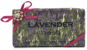 Alchimia Jewelled Lavender Vegetable Soap Handmade In Italy - 310ml Soap Bar